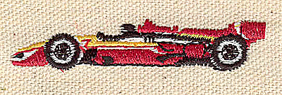 Embroidery Design: Race car 2.48w X 0.51h