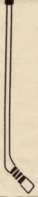 Embroidery Design: Hockey stick 11.63w X 1.98h