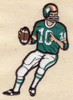 Embroidery Design: Football Player  2.44w X 3.42h