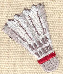 Embroidery Design: Badminton Birdie 1.23w X 1.50h