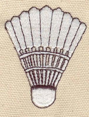 Embroidery Design: Badminton Birdie 1.64w X 2.11h