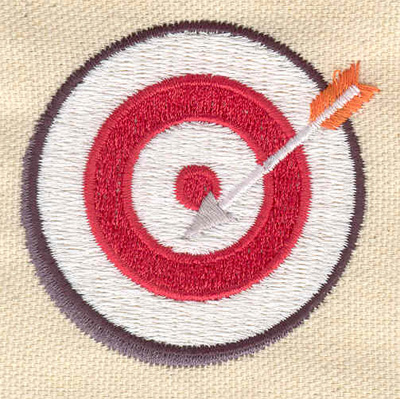 Embroidery Design: Archery target 2.26w X 2.20h