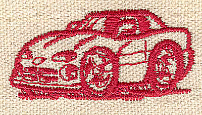 Embroidery Design: Car 2.04w X 1.00h
