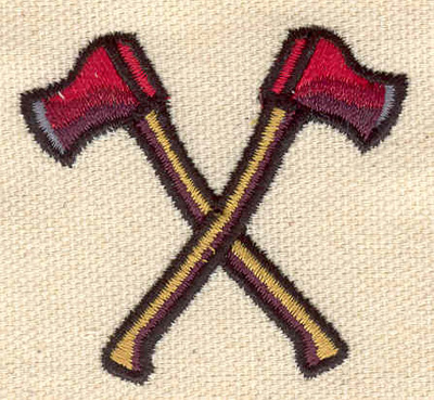 Embroidery Design: Crossed axes 2.01w X 1.84h