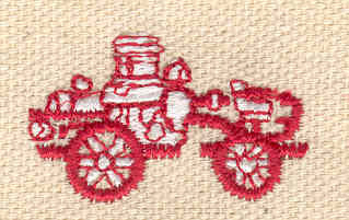 Embroidery Design: Vintage fire truck small 1.28w X 0.76h