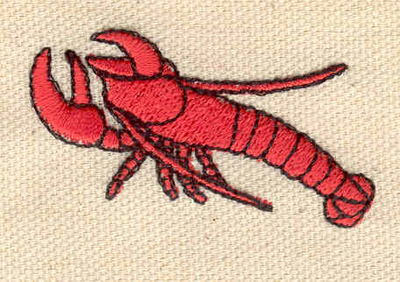 Embroidery Design: Lobster F 1.94w X 1.17h