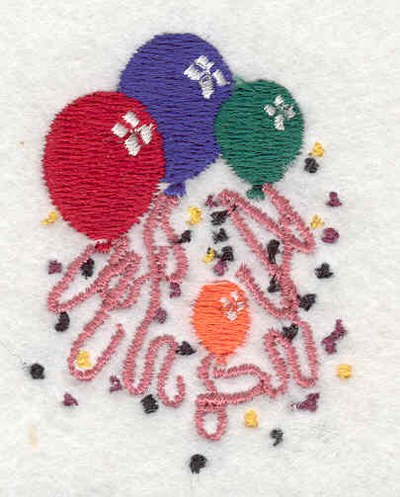 "Embroidery Design: Balloons C 1.63""w X 2.17""h"
