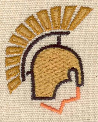 Embroidery Design: Helmet 1.83w X 2.27h