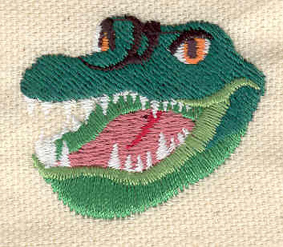 Embroidery Design: Alligator head 1.52w X 1.30h
