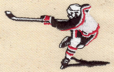 Embroidery Design: Hockey player 3.02w X 1.87h