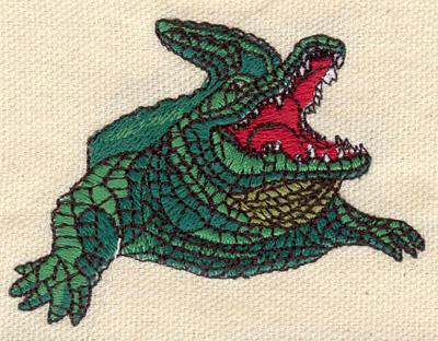 Embroidery Design: Crocodile 2.87w X 2.12h
