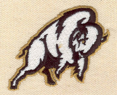 Embroidery Design: Bison 2.58w X 2.11h