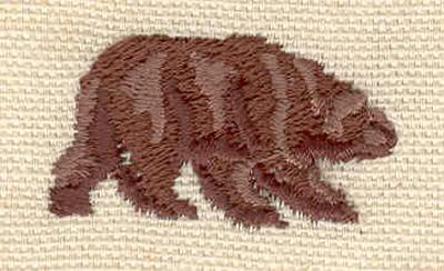 Embroidery Design: Bear D 1.42w X 0.82h