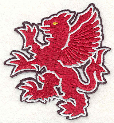 "Embroidery Design: Griffin D3.71""Hx3.39""W"