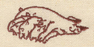 Embroidery Design: Pigs outline 2.39w X 1.13h