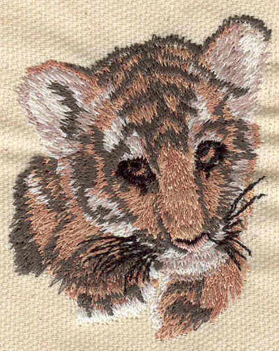Embroidery Design: Tiger Cub 2.00w X 2.54h