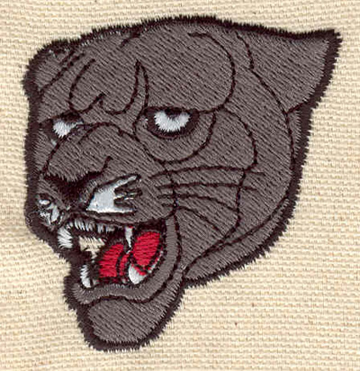 Embroidery Design: Panther head 1.96w X 2.13h