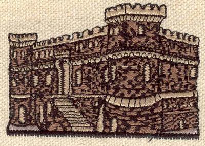 Embroidery Design: Castle 2.57w X 1.77h