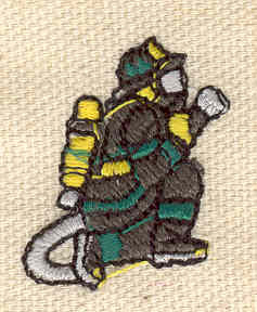 Embroidery Design: Firefighter 0.94w X 1.16h