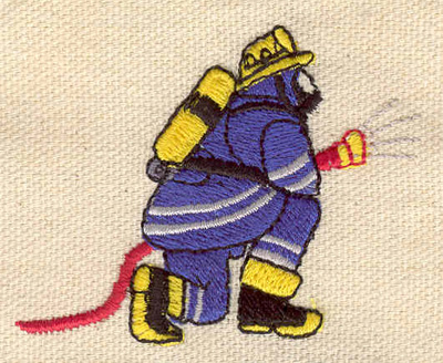 Embroidery Design: Firefighter 2.44w X 1.91h