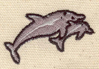 Embroidery Design: Dolphins2.02w X 1.16h