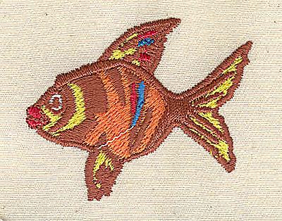Embroidery Design: Fish  2.08w X 1.76h