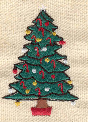 Embroidery Design: Christmas tree 1.43w X 2.10h