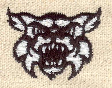 Embroidery Design: Wild Cat 1.65w X 1.26h