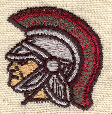 Embroidery Design: Trojan B 1.61w X 1.70j