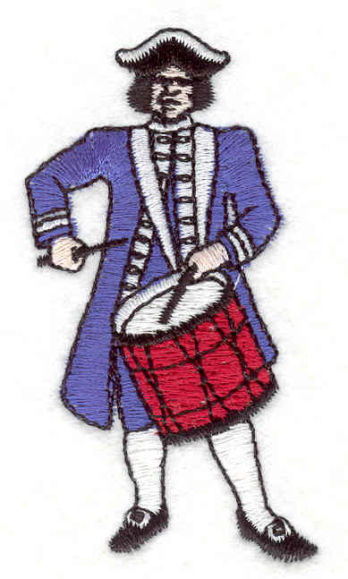 """Embroidery Design: Drummer  2.99"""" x 1.61"""""""