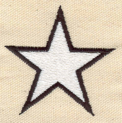 Embroidery Design: Star 2.29w X 2.26h