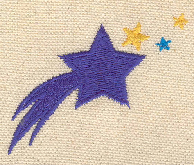 Embroidery Design: Shooting star 2.47w X 1.98h