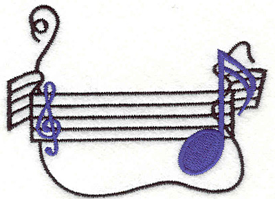 """Embroidery Design: Notes 1 2.94"""" X 3.93"""""""