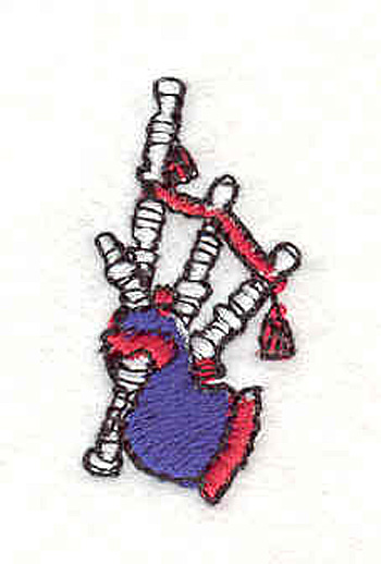 "Embroidery Design: Bagpipes 1.27"" X .066"""