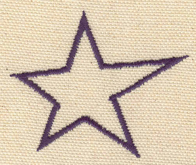 Embroidery Design: Star 2.29w X 1.93h