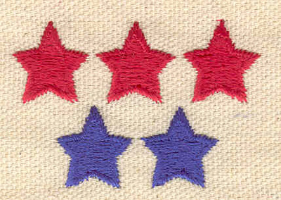 Embroidery Design: Rows of stars 1.94w X 1.31h