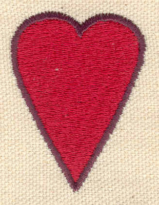 Embroidery Design: Heart 1.42w X 1.89h