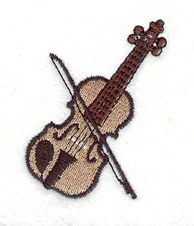 """Embroidery Design: Violin 2.13"""" X 1.54"""""""