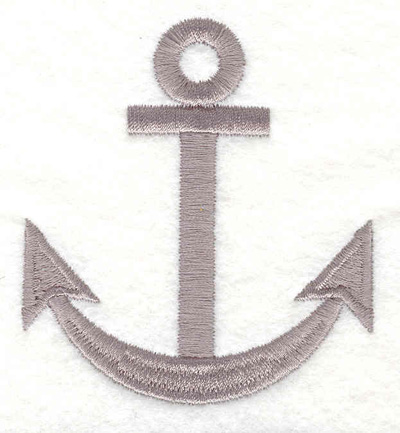 "Embroidery Design: Anchor B  2.73""w X 3.08""h"