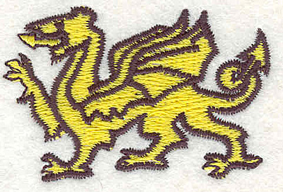 "Embroidery Design: Dragon C1.49""Hx2.28""W"