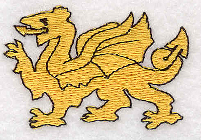 "Embroidery Design: Dragon D1.49""Hx2.27""W"