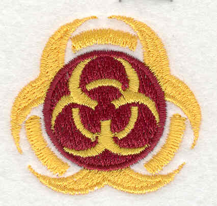 Embroidery Design: Biohazard 1.76w X 1.86h