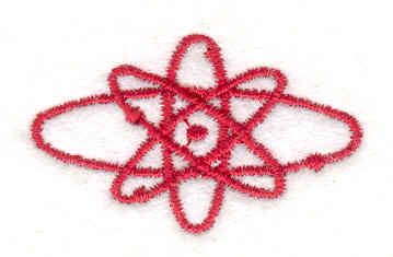 Embroidery Design: Atomic<br> 0.91w X 1.51h