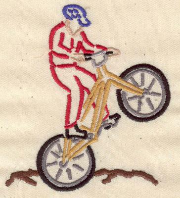 Embroidery Design: Mountain biking 3.09w X 3.54h
