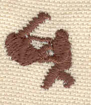 Embroidery Design: Karate 0.72w X 0.76h