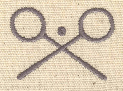 Embroidery Design: Badminton 2.13w X 1.50h