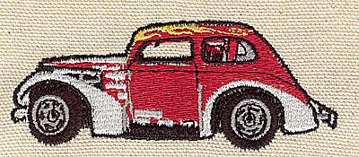 Embroidery Design: Vintage Drag racer 3.50w X 1.40h