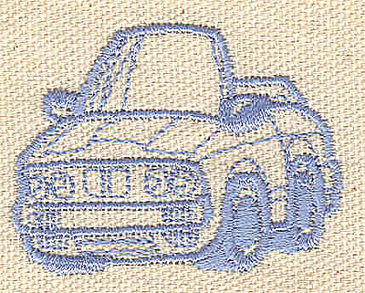 Embroidery Design: Car 1.97w X 1.51h