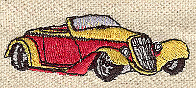 Embroidery Design: Roadster 2.48w X 0.19h