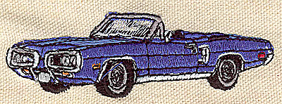 Embroidery Design: Convertible  3.57w X 1.16h